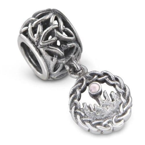 Outlander Inspired Standing Stones Silver Bead Charm
